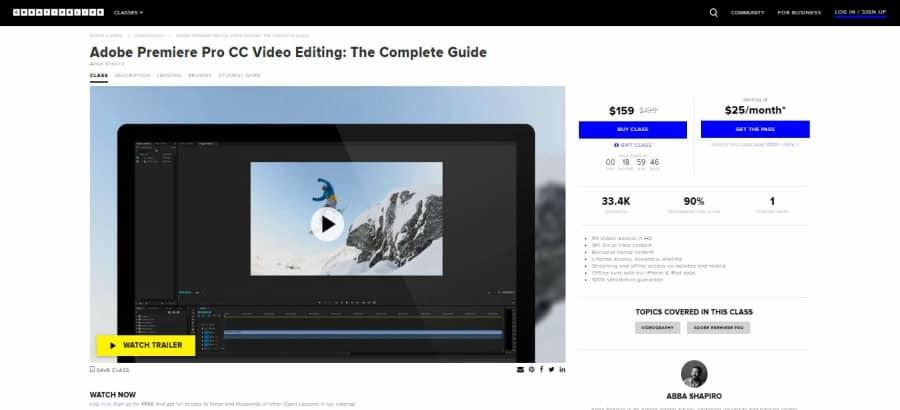 Adobe Premiere Pro CC Video Editing: The Complete Guide