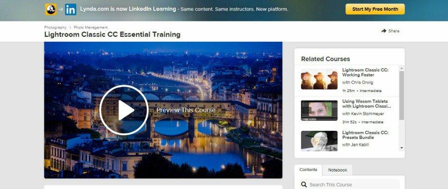 Lightroom Classic CC Essential Training