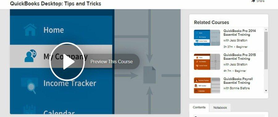 Lynda QuickBooks Desktop Tips and Tricks