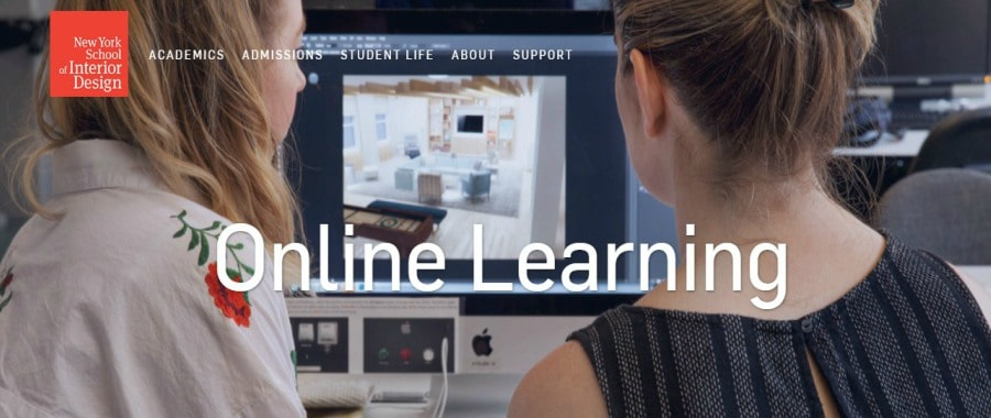 Online learning at the New York School of Interior Design