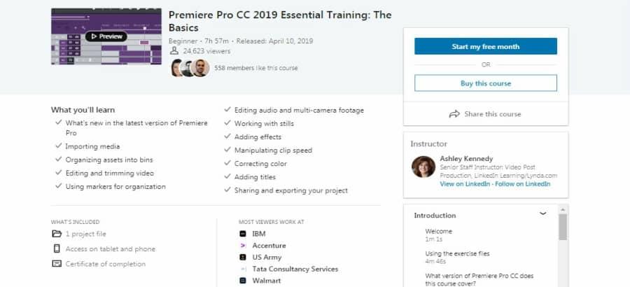 Premiere Pro CC 2019 Essential Training: The Basics
