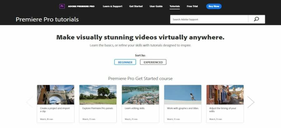 Premiere Pro tutorials