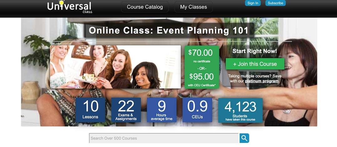 Event Planning 101 online course
