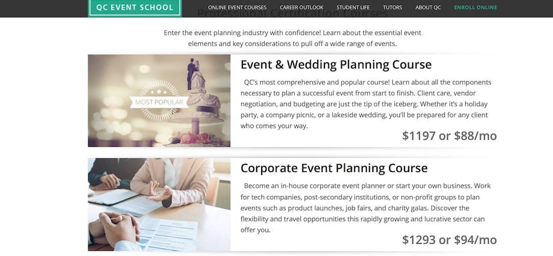 QC Event School Online Event Courses