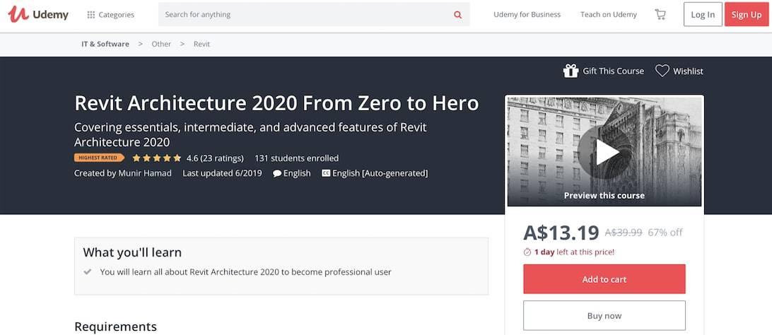 Revit Architecture 2020 From Zero to Hero