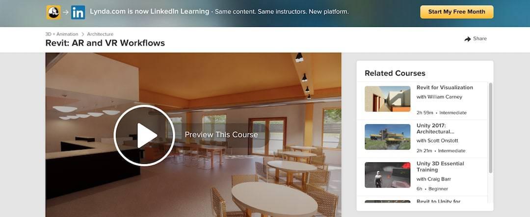Revit: AR and VR Workflows (Lynda/ LinkedIn Learning)