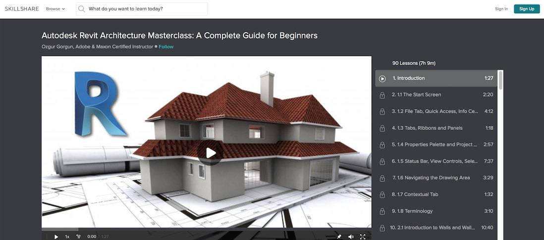 Autodesk Revit Architecture Masterclass: A Complete Guide for Beginners
