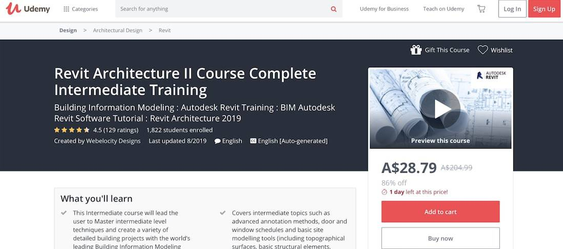 Screen Shot 2019 09 11 at 15.18.46 pm Proven Design Techniques With [year]'s Top 11 Best Online Revit Training Courses