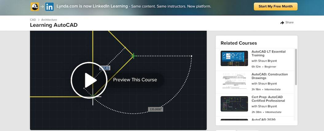 Screen Shot 2019 09 17 at 12.17.02 pm Top 10+ FREE Best Online AutoCAD Courses, Training & Classes