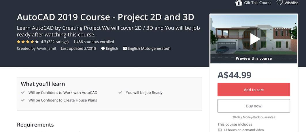 Screen Shot 2019 09 17 at 12.17.12 pm Top 10+ FREE Best Online AutoCAD Courses, Training & Classes