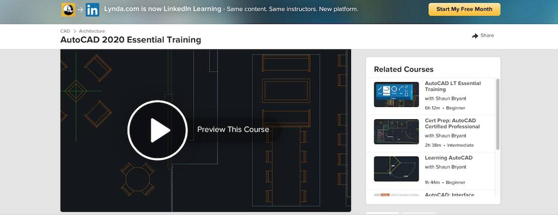 Screen Shot 2019 09 17 at 12.17.38 pm Top 10+ FREE Best Online AutoCAD Courses, Training & Classes