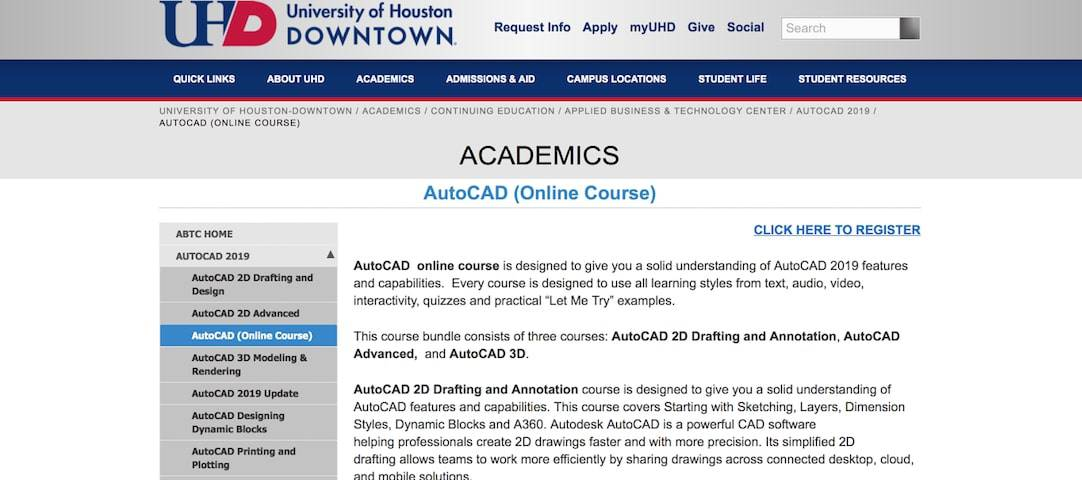 Screen Shot 2019 09 17 at 12.17.49 pm Top 10+ FREE Best Online AutoCAD Courses, Training & Classes