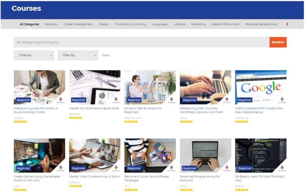 SkillSuccess Category Pages
