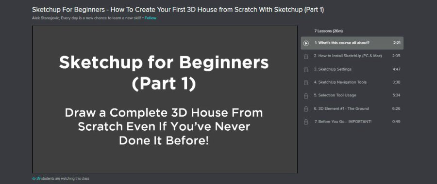Sketchup For Beginners - How To Create Your First 3D House from Scratch With Sketchup (Part 1)