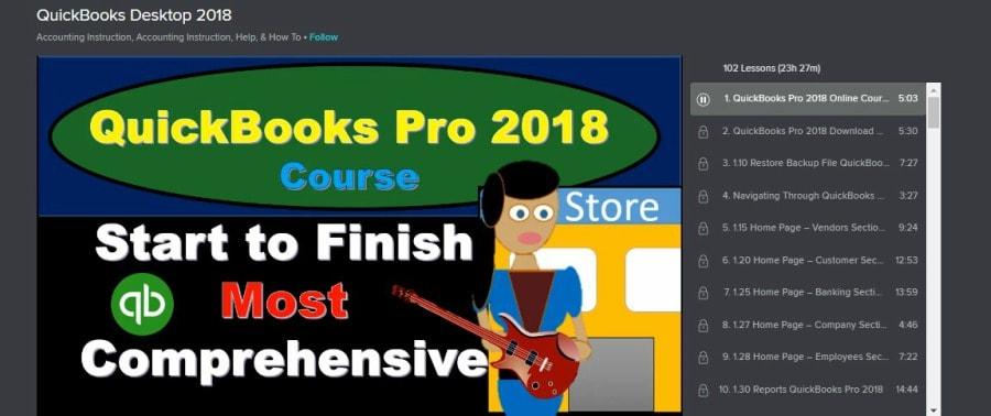 Skillshare QuickBooks Desktop 2018