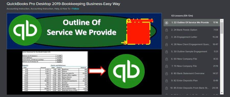 Skillshare QuickBooks Pro Desktop 2019 – Bookkeeping Business – Easy Way