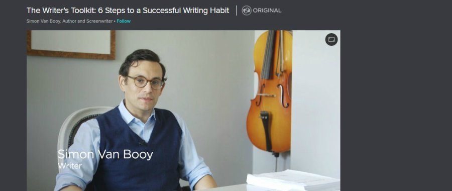 Skillshare: The Writer's Toolkit: 6 Steps to a Successful Writing Habit