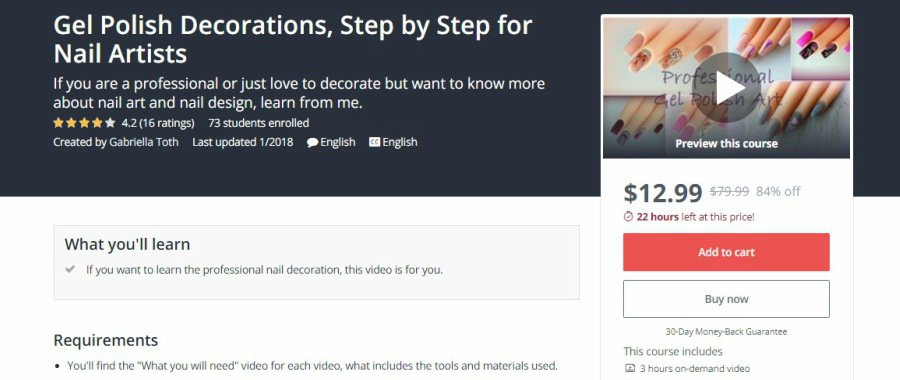 Udemy: Gel Polish Decorations, Step by Step for Nail Artists