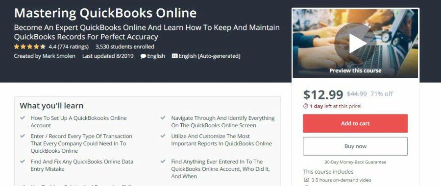 Udemy Mastering QuickBooks Online