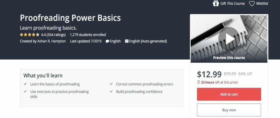 Udemy Proofreading Power Basics