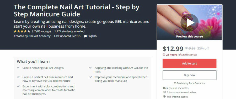 Udemy: The Complete Nail Art Tutorial – Step by Step Manicure Guide