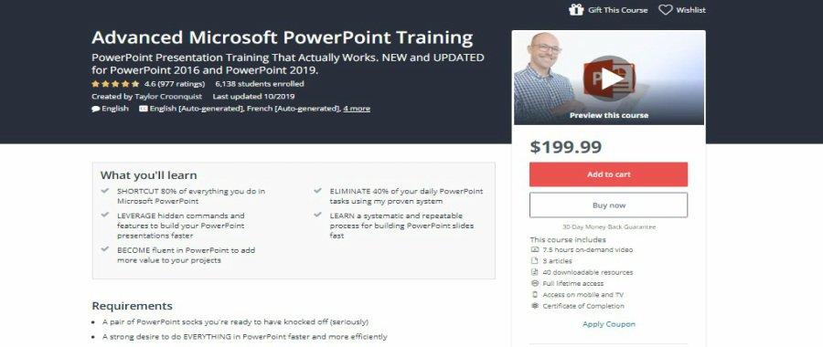 Advanced Microsoft PowerPoint Training