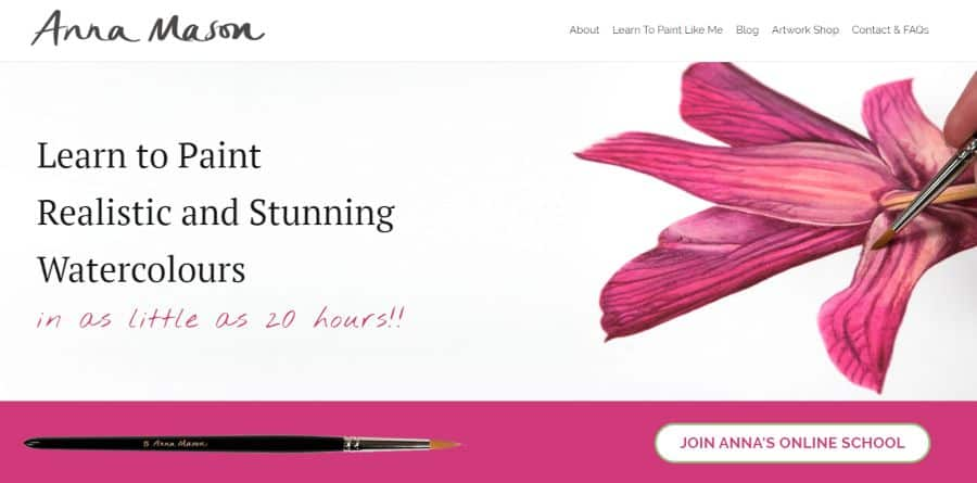 Anna Mason Art: Learn to Paint Realistic and Stunning Watercolors