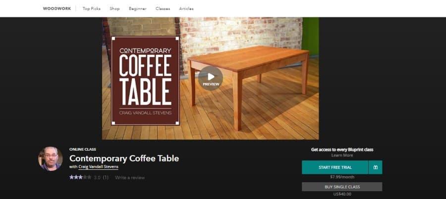 Bluprint: Contemporary Coffee Table