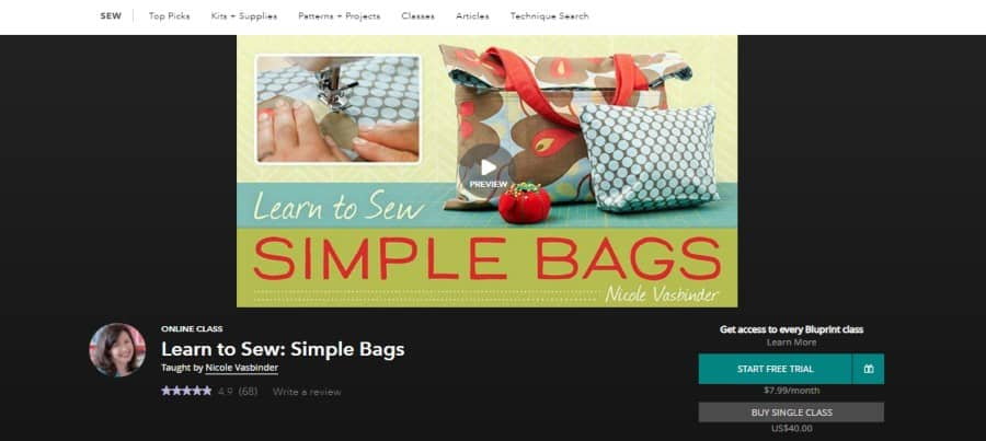 Bluprint: Learn to Sew: Simple Bags
