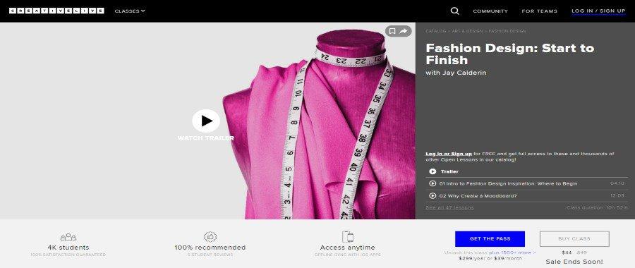 Creative Live: Fashion Design: Start to Finish