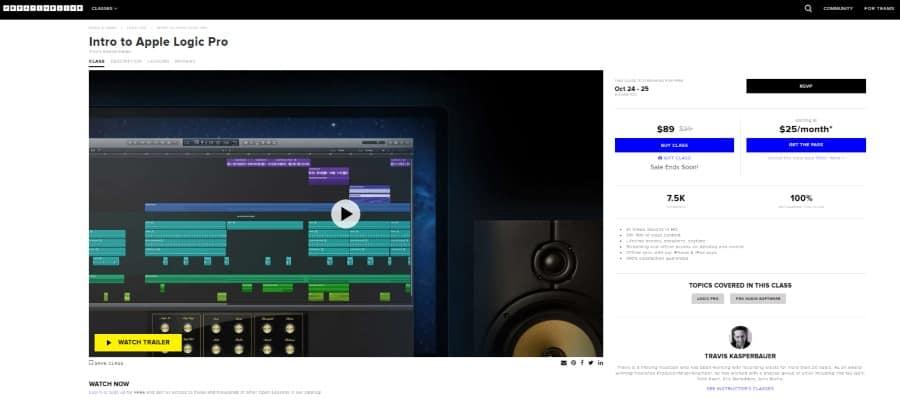 Creative Live: Intro to Apple Logic Pro