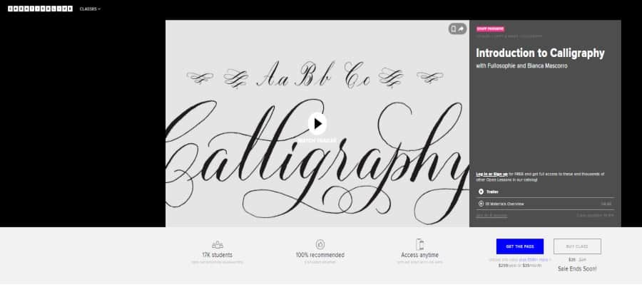Creative Live: Introduction to Calligraphy