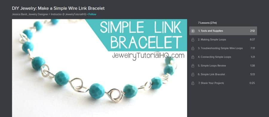 DIY Jewelry: Make a Simple Wire Link Bracelet