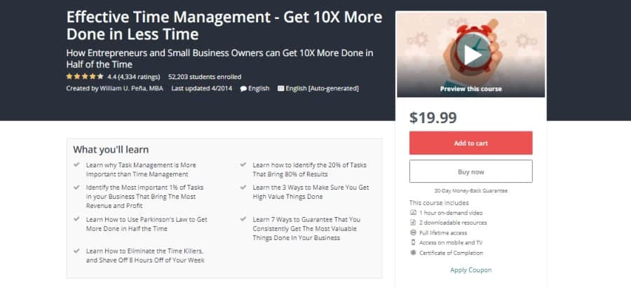 Effective Time Management - Get 10X More Done in Less Time
