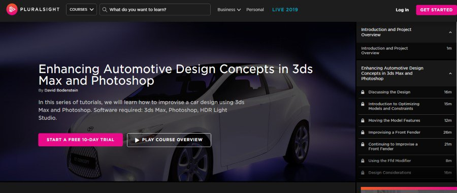 Enhancing Automotive Design Concepts in 3ds Max and Photoshop