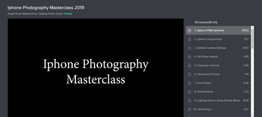 Iphone Photography Masterclass 2019