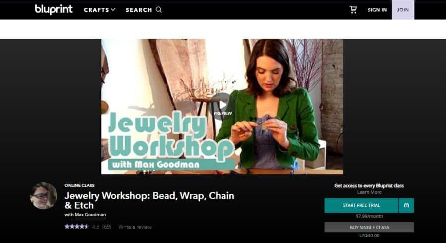 Jewelry Workshop: Bead, Wrap, Chain & Etch