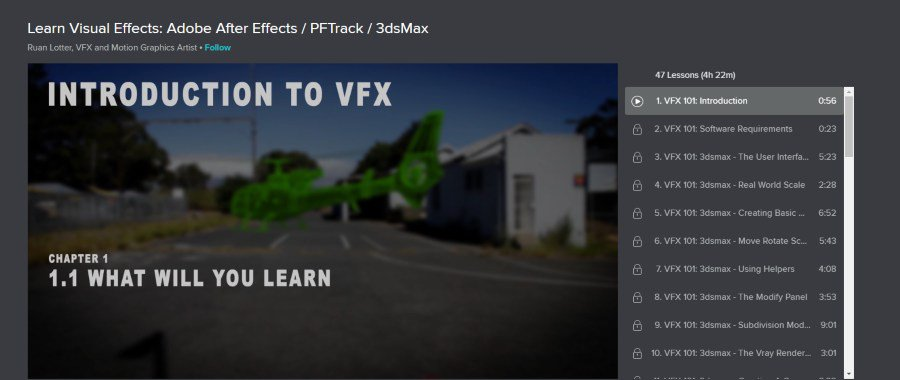 Learn Visual Effects: Adobe After Effects / PFTrack / 3dsMax