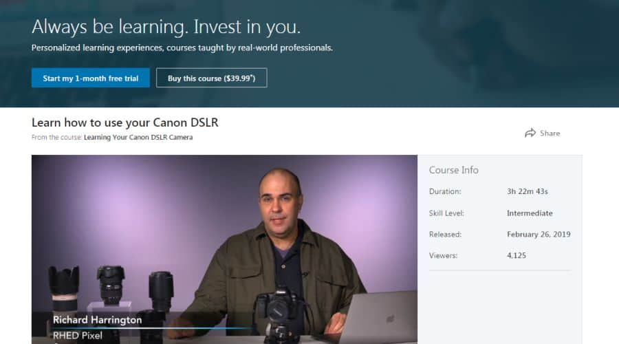 Learning Your Canon DSLR Camera