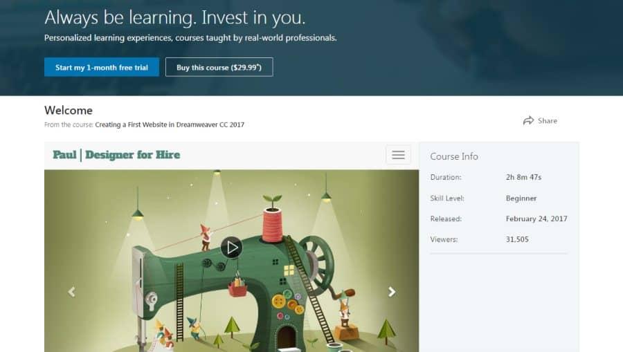 LinkedIn: Creating a First Website in Adobe Dreamweaver CC 2017