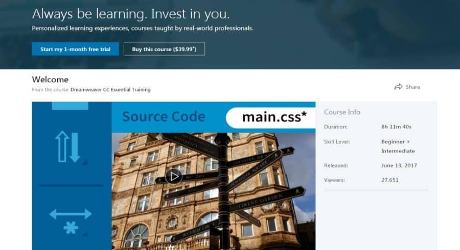 LinkedIn: Dreamweaver CC Essential Training