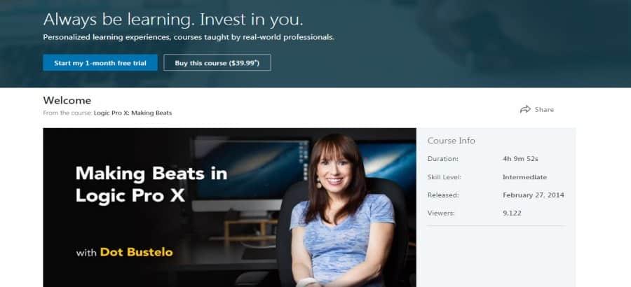 LinkedIn: Logic Pro X: Making Beats
