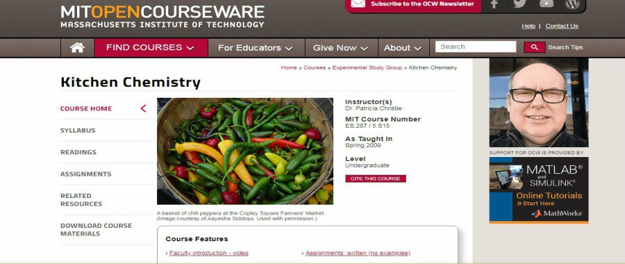 MITopencourseware.com: Kitchen Chemistry online cooking course