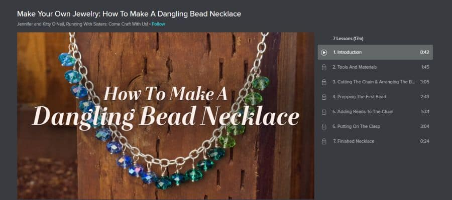 Make Your Own Jewelry: How To Make A Dangling Bead Necklace
