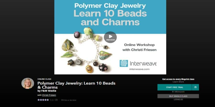 Polymer Clay Jewelry: Learn 10 Beads & Charms