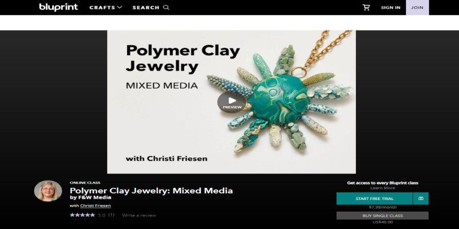Polymer Clay Jewelry: Mixed Media