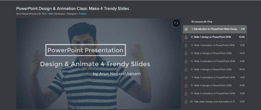 PowerPoint Design & Animation Class: Make 4 Trendy Slides
