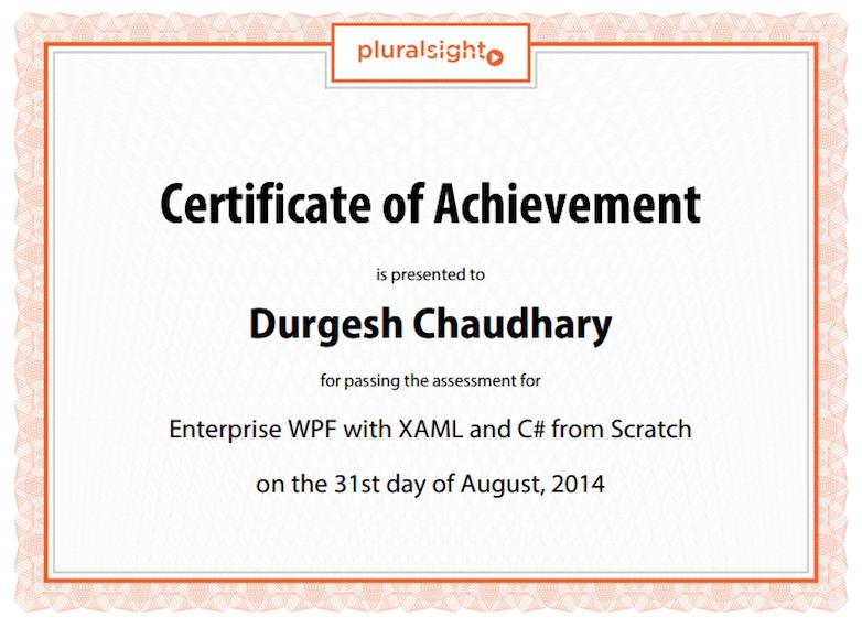 PluralSight certificates