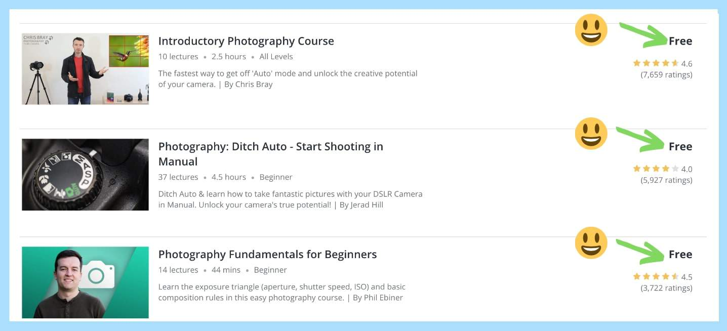 how to get free courses on Udemy