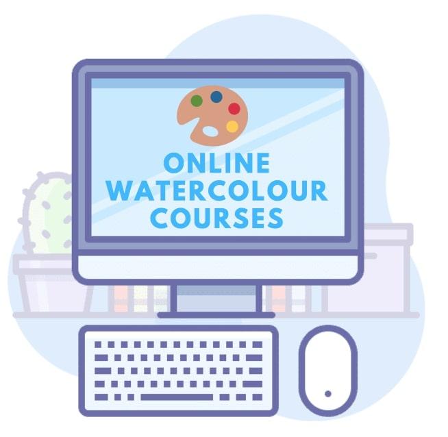 online watercoloring classes
